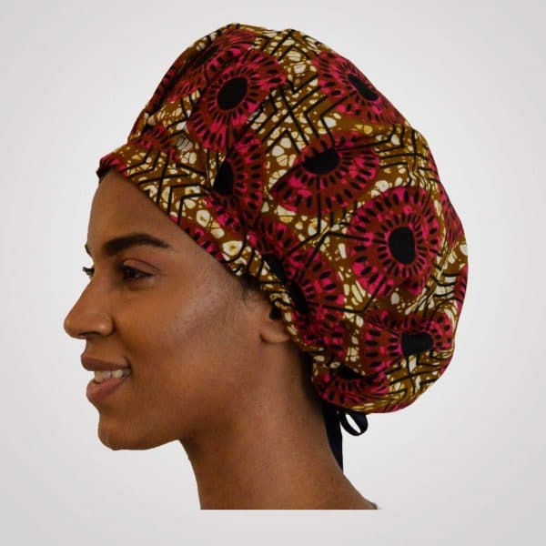 satin bonnet curly nights regelbar wax flora new