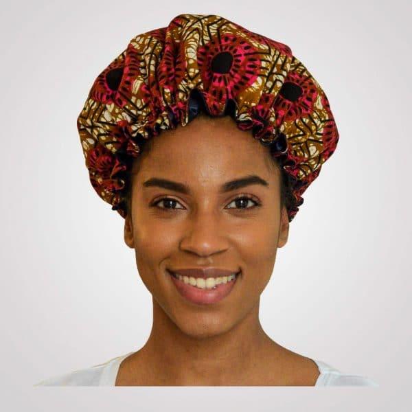 satin wax bonnet elastisch flora