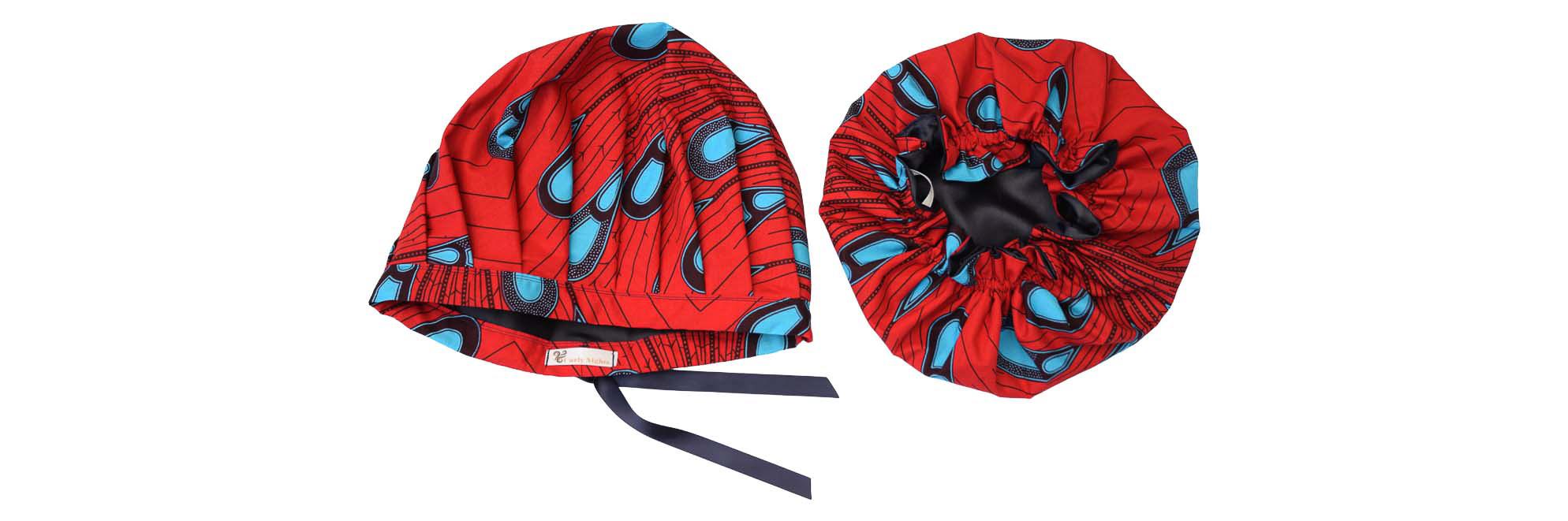 bonnet wax satin reglable ou élastique curly nights