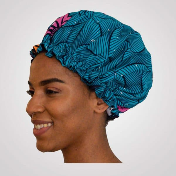 bonnet elastisch wax satin curly nights OCEAN