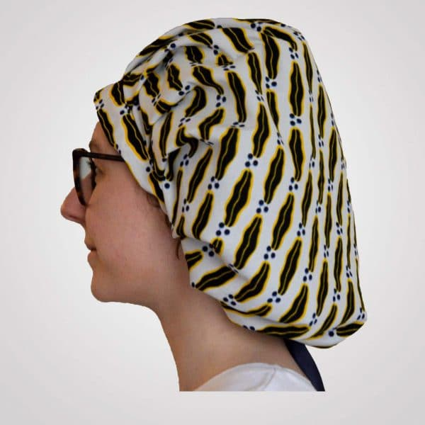 bonnet satin wax réglable grand volume curly nights lemonade