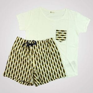 pyjama wax lemonade short tshirt curly nights