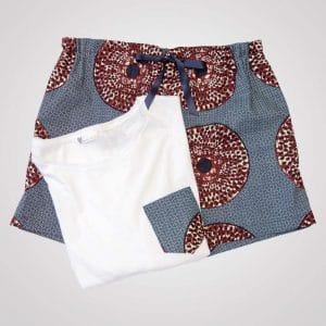 pyjama wax curly nights iris short tshirt