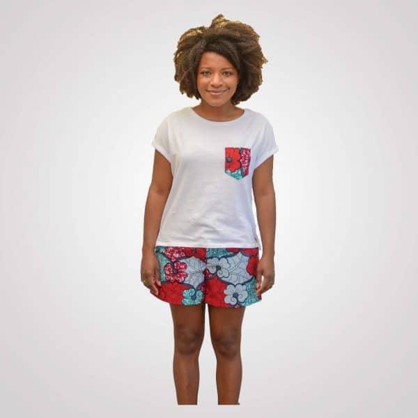 T-Shirt baumwolle wax girlfriend curly nights pyjama PASTEL