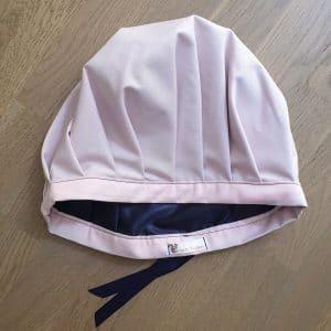 Bonnet de nuit protecteur de boucles rose poudré réglable intérieur satin