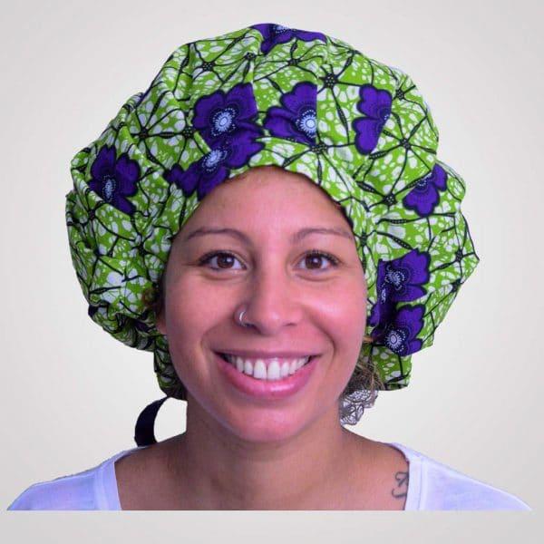 satin wax bonnet de nuit protecteur de boucles curly nights garden réglable premium