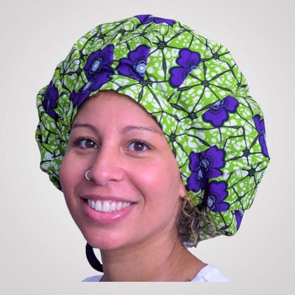satin wax bonnet schlafhaube curly nights garden anpassbar premium