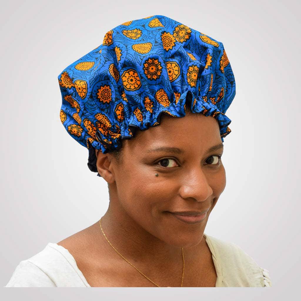 bonnet intérieur satin protecteur de boucles curly nights mandarine cheveux crépus