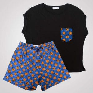 pyjama shorts curly nights wax fashion mandarine