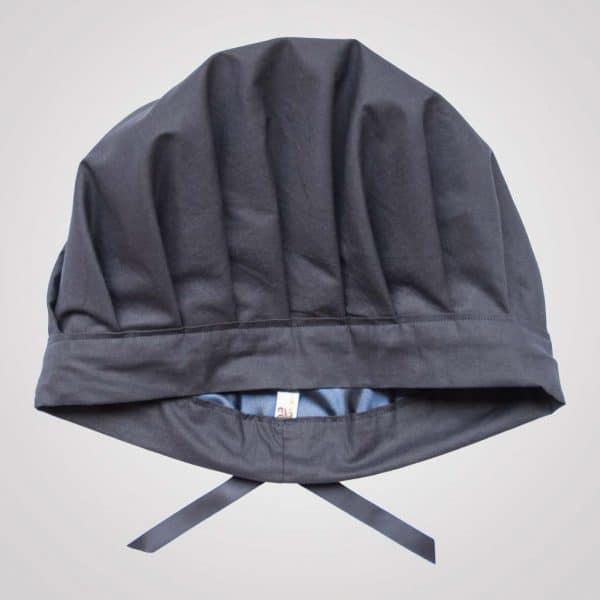 bonnet de nuit satin bleu marine réglable uni curly nights