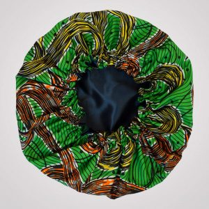 bonnet élastique de nuit satin wax curly nights TOURBILLON vert