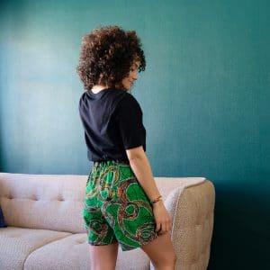 pyjama tshirt short curly nights poches wax coton TOURBILLON