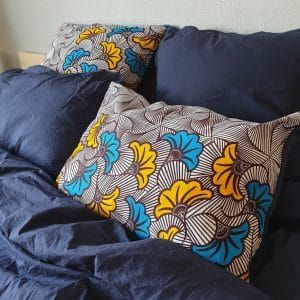 taie d'oreiller réversible satin wax curly nights Bord De Mer