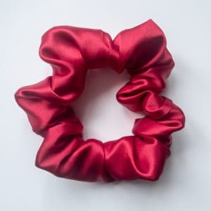 chouchou en satin rouge rubis xxl curly nights