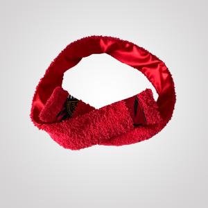 bandeau de sport et cosmétique en satin et éponge curly nights rouge écarlate