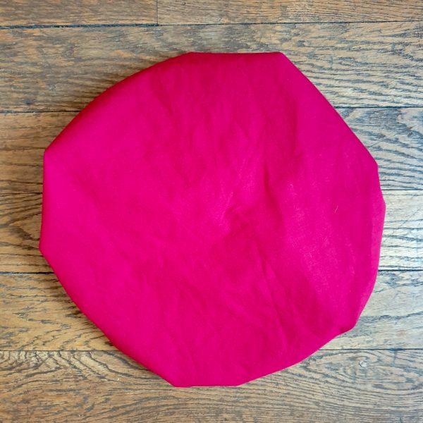 bonnet élastique intérieur satin curly nights rouge cerise