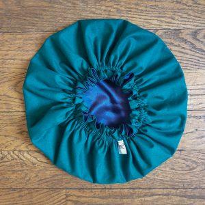 bonnet élastique intérieur satin curly nights vert royal