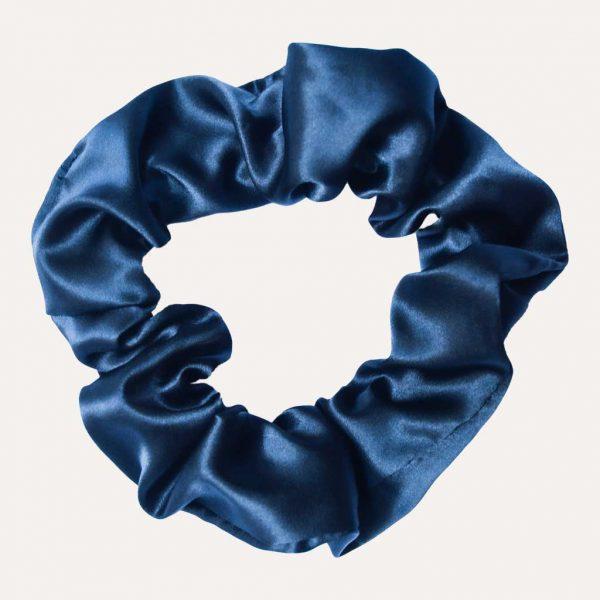scrunchie xxl satin curly nights marineblau