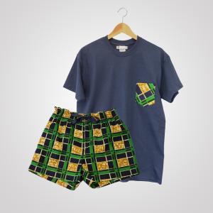 pyjama t-shirt short en wax été curly nights poches SAVANE