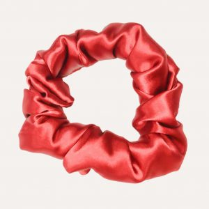 scrunchie xxl satin curly nights rubinrot