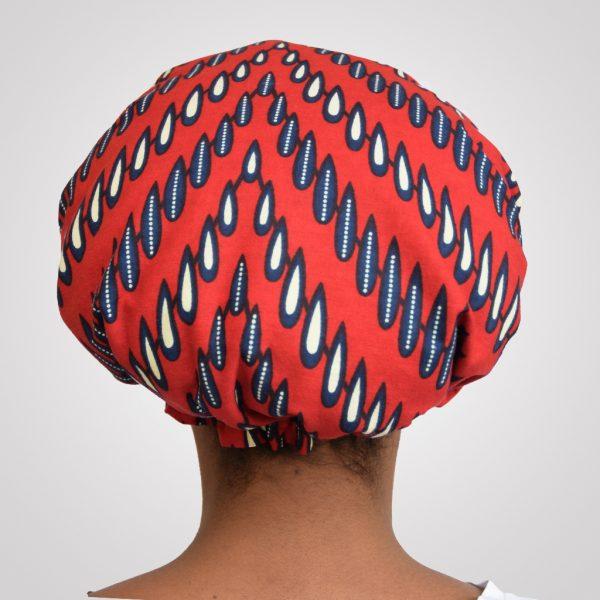 bonnet de nuit satin wax élastique curly nights RED NAILS