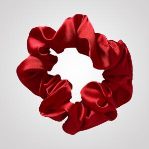 chouchou en satin rouge écarlate xxl curly nights