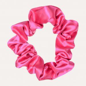 chouchou xxl en satin curly nights rose fuchsia