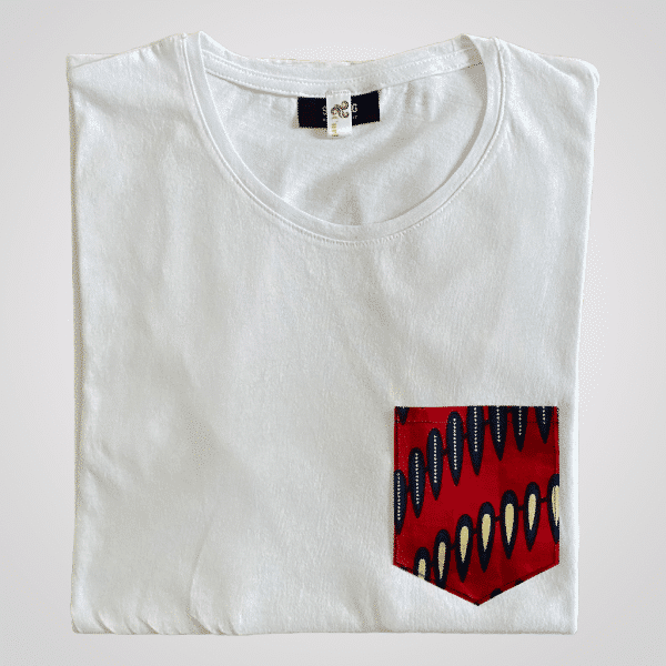 t shirt homme coton wax red nails