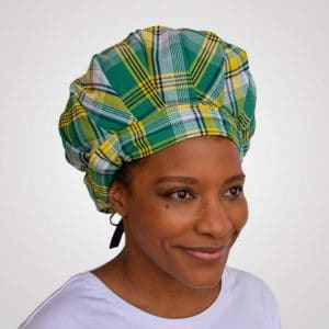 bonnet satin nuit curly nights cheveux bouclés crépus protection madras rouge
