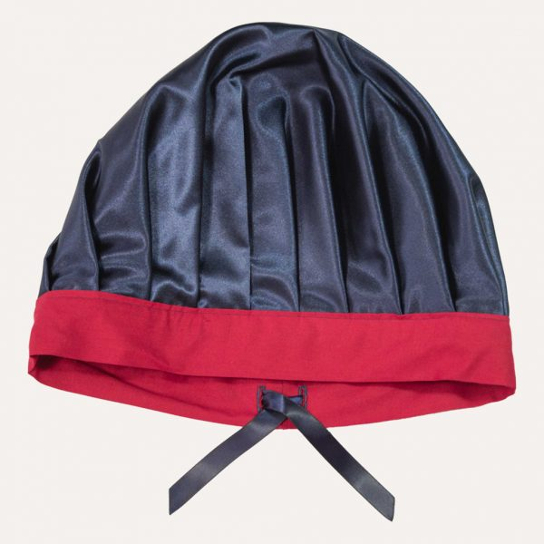 Satin Bonnet anpassbar kirschrot curly nights
