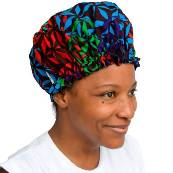 bonnet satin nuit élastique curly nights cheveux bouclés crépus protection KALEIDO