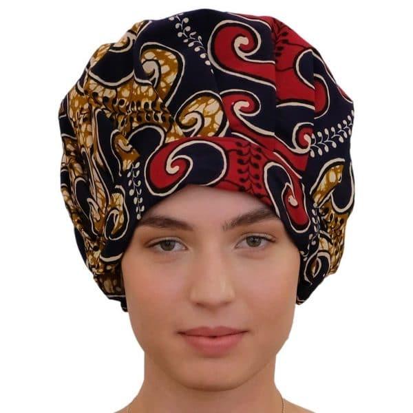 bonnet en satin de nuit réglable curly nights wax ODYSSEE