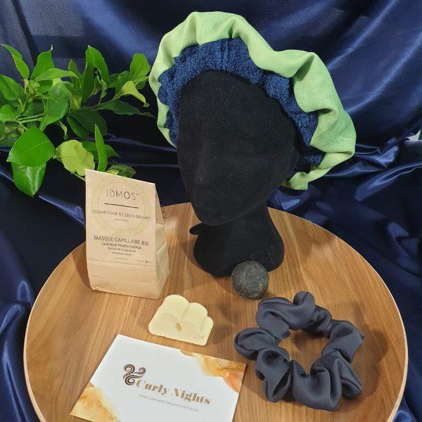 box idmos curly nights masque capillaire bonnet de soins